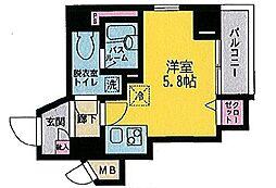 エルミタージュ横浜弘明寺[605号室]の間取り