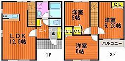 [一戸建] 岡山県岡山市中区平井4丁目 の賃貸【/】の間取り