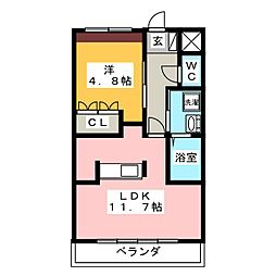 ガーデンパレス和楽[2階]の間取り