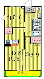 千葉県柏市酒井根3丁目の賃貸アパートの間取り