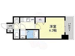 名古屋市営名城線 矢場町駅 徒歩5分の賃貸マンション 13階1Kの間取り