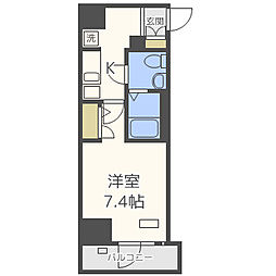 JR大阪環状線 天王寺駅 徒歩10分の賃貸マンション 6階1Kの間取り