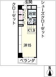 エスティメゾン葵[8階]の間取り