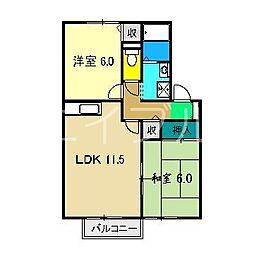 メルヴェーユ西田[2階]の間取り