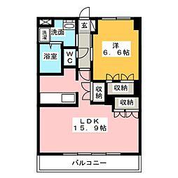 コンフォール前田III[3階]の間取り