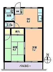 東京都大田区西嶺町6丁目の賃貸アパートの間取り