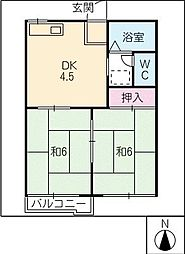 コーポ中尾A棟[1階]の間取り