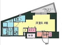 MY桜木町 10階ワンルームの間取り