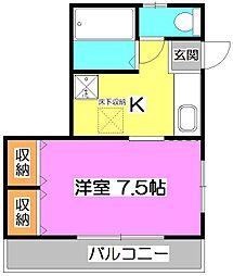ハッピー平野[1階]の間取り