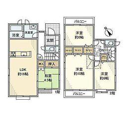 JR横浜線 新横浜駅 徒歩12分の賃貸一戸建て 1階4LDKの間取り
