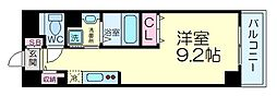 DAIWA RESIDENCE IBARAKI 9階1Kの間取り