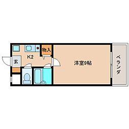 奈良県奈良市あやめ池南2丁目の賃貸マンションの間取り