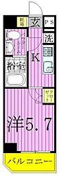 ライジングプレイス綾瀬二番館[3階]の間取り