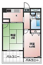 アイバレー新大阪[6階]の間取り