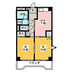シンプルハイツミヤマエ[3階]の間取り