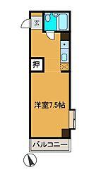照栄ハイツ[2階]の間取り