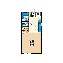 ハイツKIYO B棟[1階]の間取り