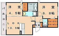 ソフィア新宮 B棟[1階]の間取り