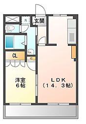 ソレイユIII[1階]の間取り