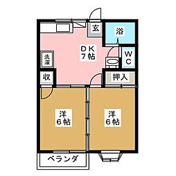 フラッツTO−1[2階]の間取り