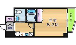 CASSIA天王寺東[9階]の間取り