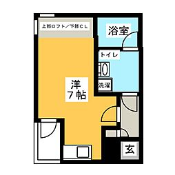 ノヴェル桜山[3階]の間取り