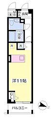 JR東海道・山陽本線 甲南山手駅 徒歩6分の賃貸マンション 4階ワンルームの間取り