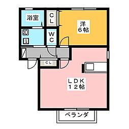 グリーンハイツJ[2階]の間取り