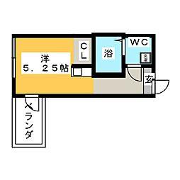 (仮称)鶴見区岸谷2丁目アパートNo.3新築工事 3階ワンルームの間取り