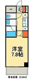 東京都台東区浅草橋1丁目の賃貸マンションの間取り