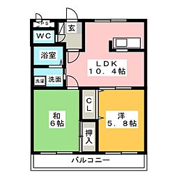 ディスカバリー柿田II[1階]の間取り