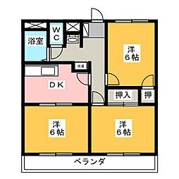 鈴木ハイツ[2階]の間取り