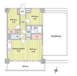 所沢市 東所沢和田 ライオンズマンション東所沢第二 5階