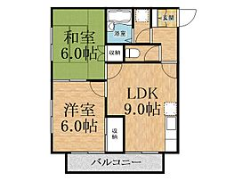 千葉県千葉市中央区生実町の賃貸アパートの間取り