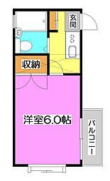 埼玉県狭山市狭山の賃貸アパートの間取り