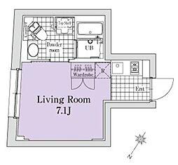 小田急小田原線 南新宿駅 徒歩4分の賃貸マンション 4階1Kの間取り