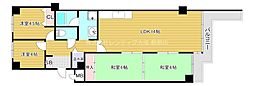 JR片町線(学研都市線) 京橋駅 徒歩14分の賃貸マンション 10階4LDKの間取り