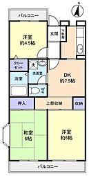 ミノルマンション[4階]の間取り