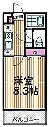 埼玉県さいたま市桜区中島の賃貸アパートの間取り