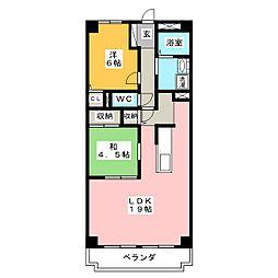 マンションソニア[5階]の間取り