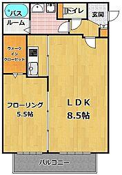 ラヴィングホーム次郎丸[3階]の間取り