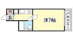 ペイサージュSANKO[5階]の間取り