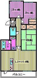 フォレストコート[4階]の間取り