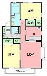 HG宮谷C棟[2階]の間取り