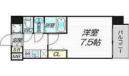 アドバンス西梅田ウインズ[4階]の間取り
