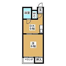 サンシャイン京都[2階]の間取り