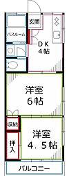 パーシモンハイム[1階]の間取り