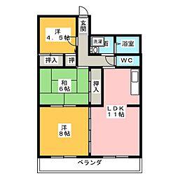 大島マンション池下[1階]の間取り