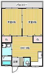 新住之江マンション[305号室]の間取り