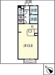 プレミール豊ヶ丘B棟[1階]の間取り
